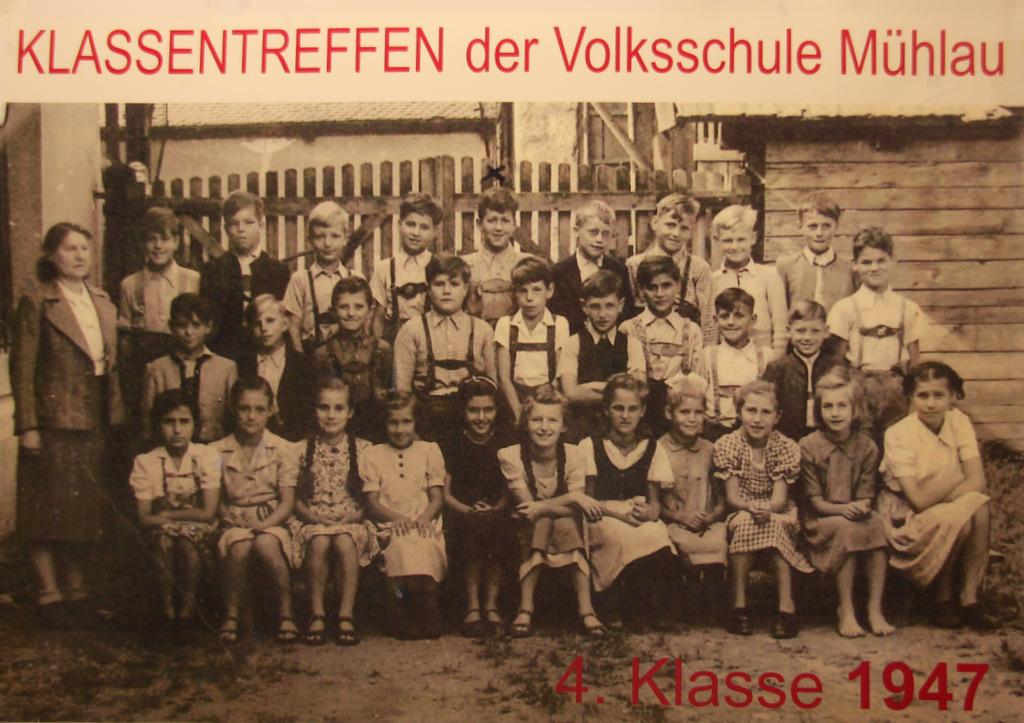 4. Klasse VS Mühlau 1947