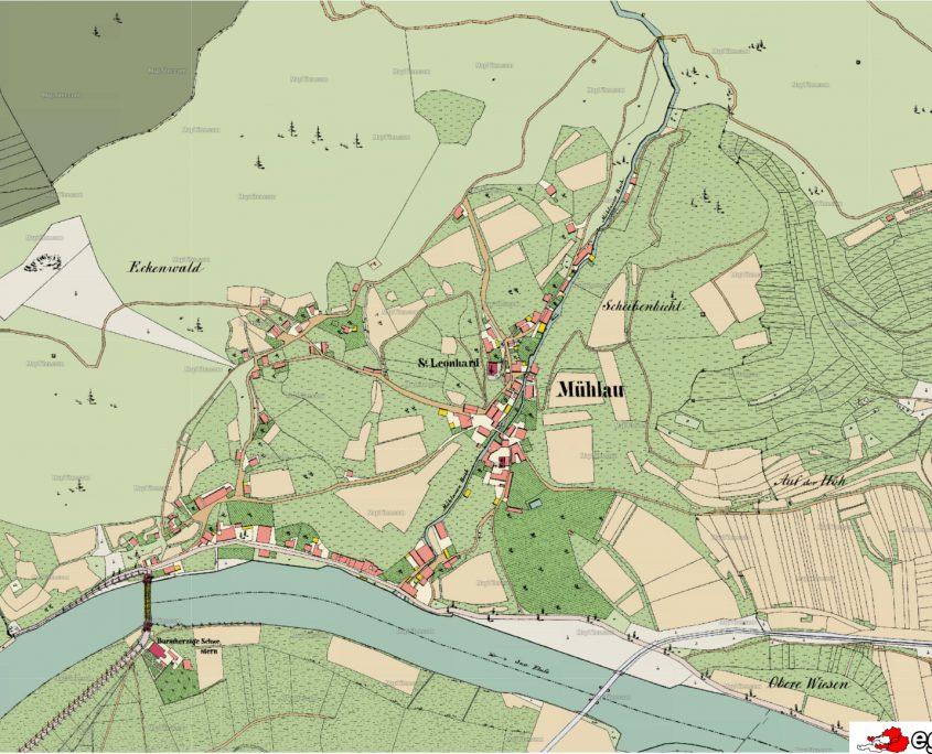 Mühlau Luftbild 1855